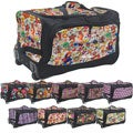Olympia Supreme Printed Polyester 26-inch Rolling Duffel