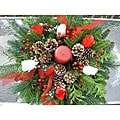 Fresh Balsam Rose Holiday Centerpiece