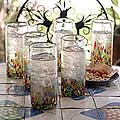 Set of 6 &#39;Confetti&#39; Highball Glasses (Mexico)