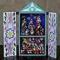 Ceramic &#39;Christmas in Quinua&#39; Nativity Scene Retablo (Peru)