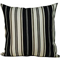 Down the Lane' Black Striped Outdoor Decorative Pillow