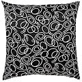Jiti Pillows Faux Silk Black/ White Decorative Pillow