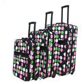 World Traveler Multi Dot 3-piece Expandable Luggage Set