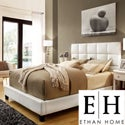 ETHAN HOME Sarajevo Queen-Sized White Faux Leather Bed