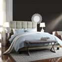 ETHAN HOME Sarajevo Queen-Sized Taupe Velvet Tufted Bed