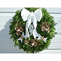 Fresh Balsam White Angel Wreath