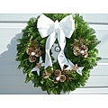 Fresh Balsam White Angel Wreath