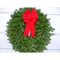 Fresh Balsam Red Bow Christmas Wreath