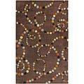 Hand-tufted Contemporary Retro Chic Green Brown Abstract Rug (8' x 11')