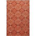Hand-tufted Contemporary Orange Retro Chic Green Geometric Abstract Rug (8' x 11')
