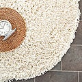 Hand-woven Bliss Ivory Shag Rug (6&#39; Round)