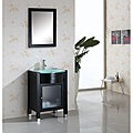 Suzie 24-inch Espresso Single-sink Bathroom Vanity with Mirror