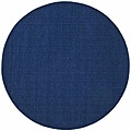 Hand-tufted Blue Stripe Wool Rug (6' Round)