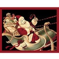 Santa on his Sleigh Christmas Novelty Rug (3' x 5')