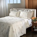 Lace Embroidered Cotton Ivory 3-piece Quilt Set
