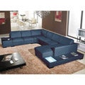 Italia Designs Black Leather Sectional