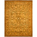 Handmade Antiquities Kasadan Olive Green Wool Rug (12' x 15')