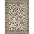 Primeval Ivory/ Beige Oriental Rug (7&#39;7 x 10&#39;6)