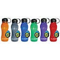 BPA-free 18-oz Assorted Colors Plastic Water Bottle (Pack of 12)