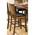 Walnut Panel-back Counter Stools (Set of 2)