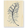 Stampendous 'Feather Points' Wood Stamp