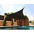 Medium Square Black Sail Sun Shade