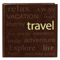 Pioneer Book-style Brown Travel Photo Albums (Pack of 2)