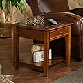Quincy Walnut End Display Table