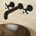 Metropolitan Oil Rubbed Bronze Wall Mount Vessel Sink Bathroom Faucet