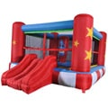 Waliki Medium Boxing Ring Inflatable Bounce House with Punching Bag