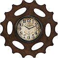 Wooden Americana Rusty Sprocket Wall Clock