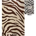 Handmade Alexa Modern Zebra Wool Rug (7&#39;6 x 9&#39;6)