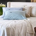 Reflections Distressed Stripe Sateen 300 Thread Count Queen-size Sheet Set
