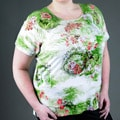 Rochelle Women's Plus Size Floral Short-sleeve Top