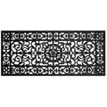 Renaissance Rectangle Square Grid Rubber Door Mat (17 x 41)
