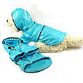 Pet Life Extra Small Blue Hooded Raincoat