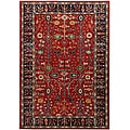 Hand-tufted Grandeur Red Wool Rug (5&#39; x 8&#39;)