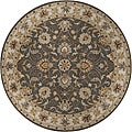 Hand-tufted Coliseum Gray Traditional Border Wool Rug (9&#39;9 Round)