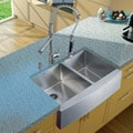 Vigo Farmhouse Stainless Steel Kitchen Sink, Faucet, and Dispenser