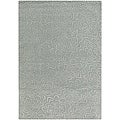 Hand-tufted Mandara Blue Floral New Zealand Wool Rug (9' x 13')