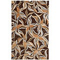 Hand-tufted Kamari Brown Abstract Rug (2' x 3')