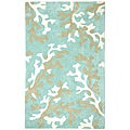 Hand-tufted Kamari Blue Abstract Rug (2' x 3')