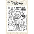 Crafty Secrets Tea with Alice Large Sheet Clear Art Stamps