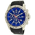 Le Chateau Men's Sport Dinamica Steel Chronograph Rubber Band Watch