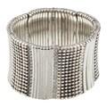 Celeste Silvertone Brass Crystal Stretch Cuff Bracelet