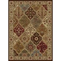 Ivory Abstract Area Rug (7&#39;6 x 9&#39;10)