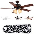 New Image Concepts 4-light Paisley Blade Ceiling Fan