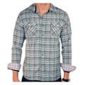 191 Unlimited Men&#39;s Green Plaid Shirt