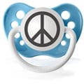 Personalized Pacifiers Peace Sign Pacifier in Blue