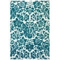 Hand-tufted Fenway Aqua Wool Rug (8' x 11')
